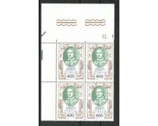 1983 - LOTTO/6798Q - REPUBBLICA - GIROLAMO FRESCOBALDI - QUARTINA NUOVI