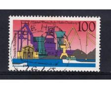1991 - GERMANIA FEDERALE - 100p. PORTO DI DUISBURG - USATO - LOTTO/31254U