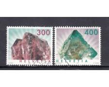 2003 - SVIZZERA - MINERALI 2v. USATI - LOTTO/15215U