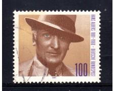 1991 - GERMANIA FEDERALE - 100p. HANS ALBERS - USATO - LOTTO/31255U