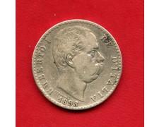 1898 - REGNO D'ITALIA - 2 LIRE ARGENTO UMBERTO I° - LOTTO/M32394