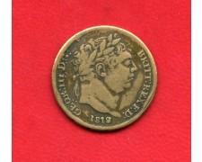 1819  GRAN BRETAGNA - 6 PENCE ARGENTO GIORGIO III° - LOTTO/M32395