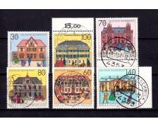 1991 - GERMANIA FEDERALE - UFFICI POSTALI 6v. - USATI - LOTTO/26398A