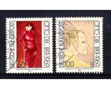1991 - GERMANIA FEDERALE - OTTO DIX 2v. - USATI - LOTTO/31259U