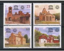 2016 - SERBIA REPUBBLICA - UNESCO MONASTERI 4v. - NUOVI - LOTTO/35289