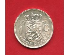 1967 - OLANDA - 1 GULDEN ARGENTO REGINA GIULIANA - LOTTO/M32397