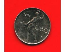 1955 - REPUBBLICA  - 50 LIRE  VULCANO I° TIPO FIOR DI CONIO - LOTTO/M32398