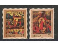 2016 - SERBIA REPUBBLICA - PASQUA ICONE 2v. - NUOVI - LOTTO/35292