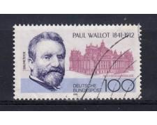 1991 - GERMANIA FEDERALE - 100p. PAUL WALLOT - USATO - LOTTO/31247U