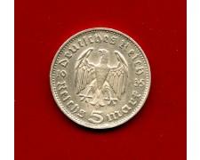 1936 - GERMANIA - 5 MARCHI HINDENBURG ARGENTO - ZECCA D - LOTTO/M30491
