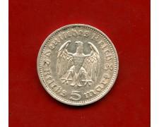1936 - GERMANIA - 5 MARCHI HINDENBURG ARGENTO - ZECCA  E - LOTTO/M30492