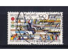 1991 - GERMANIA FEDERALE - 100p. SICUREZZA STRADALE - USATO - LOTTO/31250U