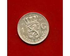 1957 - OLANDA - 1 GULDEN ARGENTO REGINA GIULIANA - LOTTO/M30518