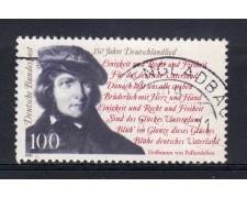 1991 - GERMANIA FEDERALE - 100p. INNO NAZIONALE - USATO - LOTTO/31251U