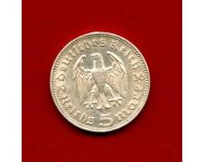 1936 - GERMANIA - 5 MARCHI HINDENBURG ARGENTO - ZECCA  J - LOTTO/M30493