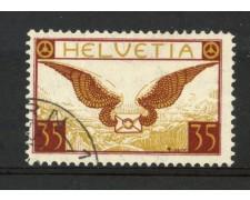 1929/30 - SVIZZERA - 35 CENT. POSTA AEREA - USATO - LOTTO/30673