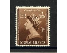1953 - TOKELAU - INCORONAZIONE REGINA ELISABETTA  - NUOVO - LOTTO/34333