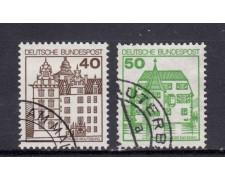 1980 - GERMANIA FEDERALE - CASTELLI E FORTEZZE 2v. - USATI - LOTTO/31417U