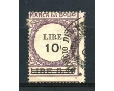 1920 - REGNO - MARCA DA BOLLO DA 10 LIRE su 5,40 VIOLA - LOTTO/32460