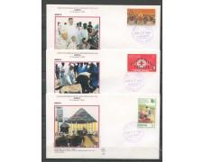 1985 - KENYA - VISITA DI S.S. GIOVANNI PAOLO II° a  NAIROBI -  3 BUSTE  - LOTTO/32165