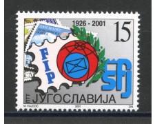 2001 - JUGOSLAVIA - GIORNATA DEL FRANCOBOLLO - NUOVO - LOTTO/35559
