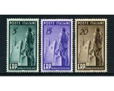 1949 - REPUBBLICA - ERP PROGRAMMA RICOSTRUZIONE 3v. - NUOVI - LOTTO/30360
