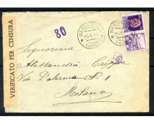 1944 - REPUBBLICA SOCIALE - 50 CENT. PROPAGANDA DI GUERRA SU BUSTA PER MILANO - LOTTO/30678