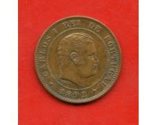1892 - PORTOGALLO - 10 REIS CARLO I° - LOTTO/M31685