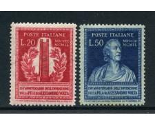 1949 - REPUBBLICA - 150° ANNIVERSARIO DELLA PILA DI A.VOLTA 2v. - LOTTO/30366