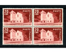 1949 - LOTTO/24578Q- REPUBBLICA - ELEZIONI DI TRIESTE -  QUARTINA NUOVI