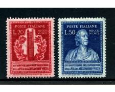 1949 - REPUBBLICA - 150° ANNIVERSARIO DELLA PILA DI A.VOLTA 2v. - LOTTO/30366A