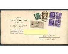 1944 - REPUBBLICA SOCIALE - RACCOMANDATA R.R. DA MILANO A INZAGO - LOTTO/30683
