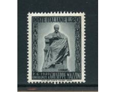1949 - REPUBBLICA - 20 LIRE MONUMENTO A G. MAZZINI - NUOVO - LOTTO/30367