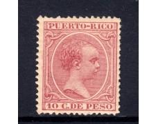 1890 - PORTORICO - 10 CENT. DI PESO ROSA - LINGUELLATO - LOTTO/5063