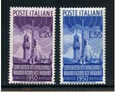 1950 - LOTTO/30364A - REPUBBLICA - RADIODIFFUSIONE 2v. - NUOVI