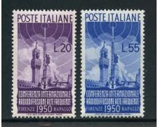 1950 - LOTTO/30364B - REPUBBLICA - RADIODIFFUSIONE 2v. - NUOVI
