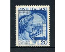 1949 - REPUBBLICA - BIMILLENARIO DI CATULLO - NUOVO - LOTTO/30372