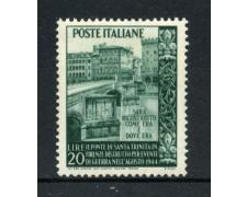 1949 - REPUBBLICA - 20 LIRE PONTE SANTA TRINITA'  - NUOVO - LOTTO/30373