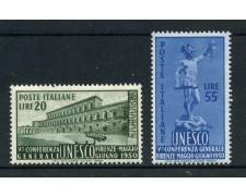 1950 - LOTTO/12782A - REPUBBLICA - U.N.E.S.C.O. 2v. - NUOVI