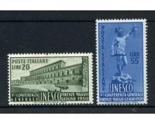 1950 - LOTTO/12782B - REPUBBLICA - U.N.E.S.C.O. 2v. - NUOVI