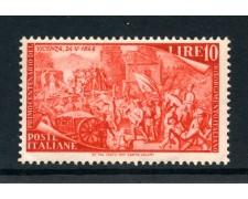 1948 - REPUBBLICA - 10 LIRE CENTENARIO DEL RISORGIMENTO - NUOVO - LOTTO/30355