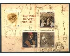 2019 - ITALIA REPUBBLICA - LEONARDO DA VINCI - FOGLIETTO NUOVO - LOTTO/31552