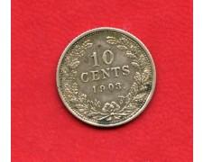 1903 - OLANDA - 10 CENTESIMI  ARGENTO REGINA GUGLIELMINA - LOTTO/M32343