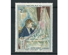 1972 - MONACO - 2 Fr. ANNIVERSARIO UNICEF - NUOVO - LOTTO/31066