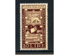 1949 - REPUBBLICA - 20 LIRE BIENNALE DI VENEZIA - NUOVO - LOTTO/30358