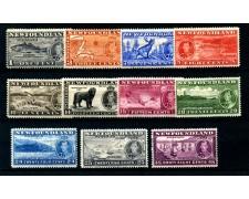 1937 - TERRANOVA (NEW FOUNDLAND) - INCORONAZIONE DI RE GIORGIO VI° 11v. - LINGUELLATI