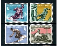 1955  LIECHTENSTEIN - SPORT SCI E ALPINISMO 4v. - NUOVI - LOTTO/25017