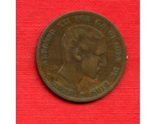 1877 - LOTTO/M23065 - SPAGNA - 10 CENTIMOS ALFONSO XII°